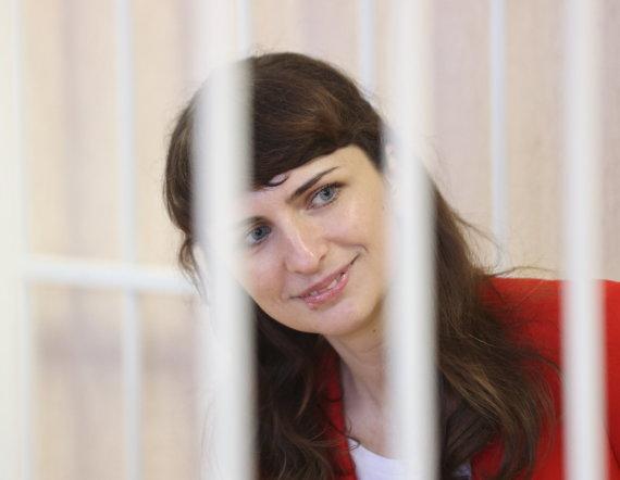 """""""Reuters""""/""""Scanpix"""" nuotr./Kaciaryna Barysevič teisme"""
