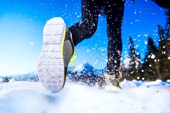123rf.com nuotr./Bėgimas žiemą