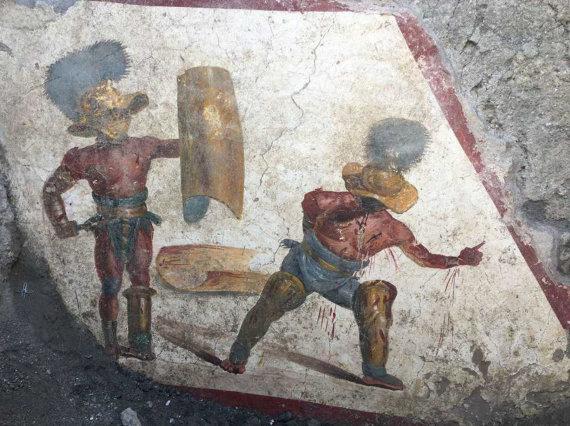 """""""Scanpix""""/AP nuotr./Pompėjoje rasta freska"""