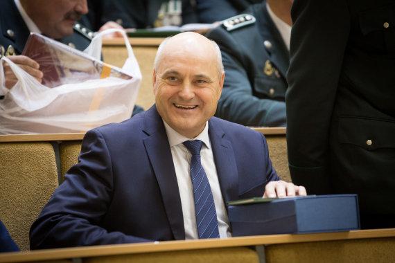 "Vidmanto Balkūno / 15min nuotr./""Gelsauga"" vadovas Algimantas Songaila"