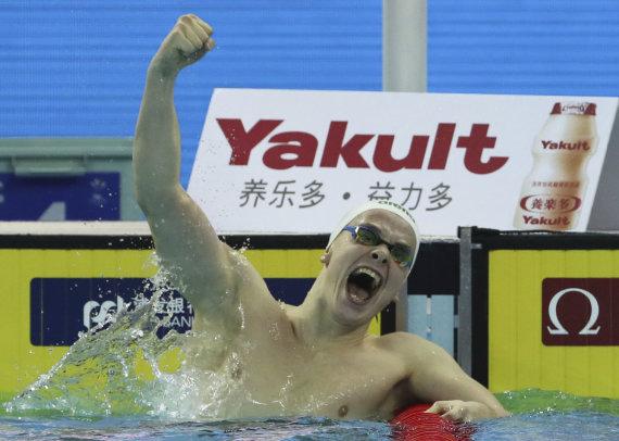 """""""Scanpix""""/AP nuotr./Danas Rapšys pasaulio čempionate Kinijoje."""