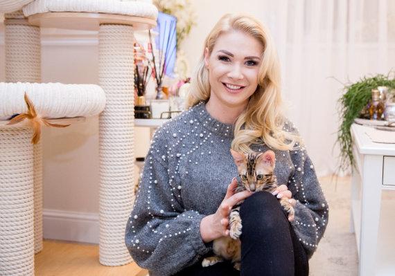 Luko Balandžio / 15min nuotr./Natalija Bunkė su katinu Maiklu