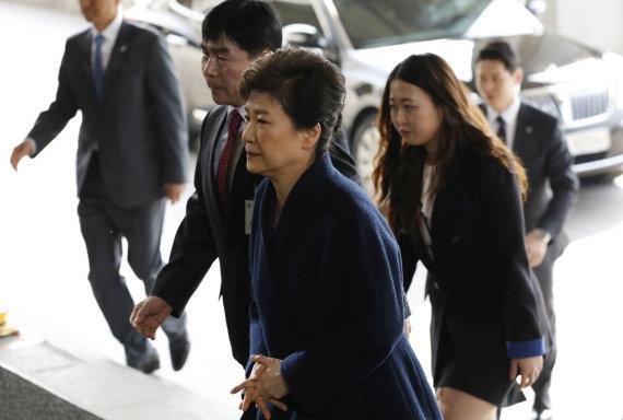 """""""Scanpix""""/AP nuotr./Pietų Korėjos prezidentė Park Geun-hye"""