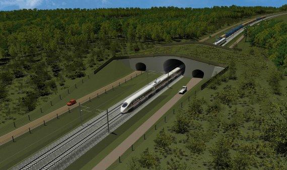 """Rbestonia.ee nuotr./""""Rail Baltica"""" geležinkelis bus dviejų kelių ir elektrifikuotas – tai užtikrins didelį kelionių greitį."""