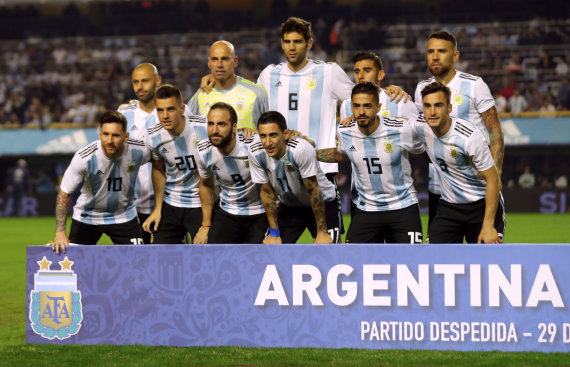 """Reuters""/""Scanpix"" nuotr./Argentinos futbolo rinktinė"