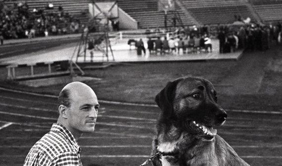 """pliadisfoto.com archyvo nuotr./Retro nuotrauka – boksas """"Žalgirio"""" stadione"""
