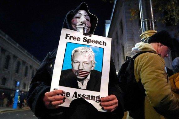 "AFP/""Scanpix"" nuotr./Juliano Assange'o atvaizdas"