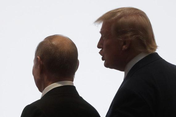 """""""Scanpix""""/ITAR-TASS nuotr./Vladimiras Putinas ir Donaldas Trumpas"""
