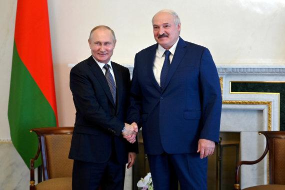 """Scanpix""/ITAR-TASS nuotr./Vladimiras Putinas ir Aliaksandras Lukašenka"
