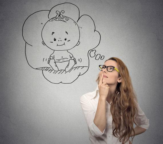 123rf.com nuotr./Moteris svajoja apie kūdikį