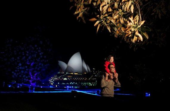 """""""Reuters""""/""""Scanpix"""" nuotr./Sidnėjaus šviesų festivalis"""