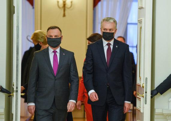LR Prezidento kanceliarijos/R.Dačkaus nuotr./Andžejus Duda, Gitanas Nausėda