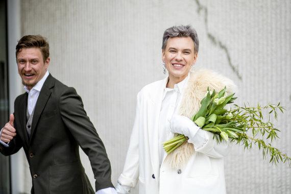 """Luko Balandžio / 15min nuotr./""""X faktoriaus"""" žvaigždės Monikos Juškevičiūtės ir Karolio Laurinavičiaus vestuvės"""