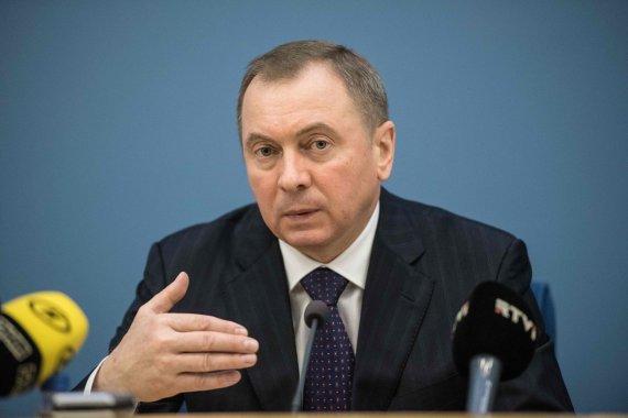 """AFP/""""Scanpix"""" nuotr./Baltarusijos užsienio reikalų ministras Vladimiras Makėjus"""