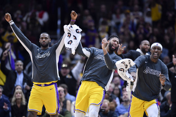 """Scanpix"" nuotr./""Lakers"" krepšininkai"