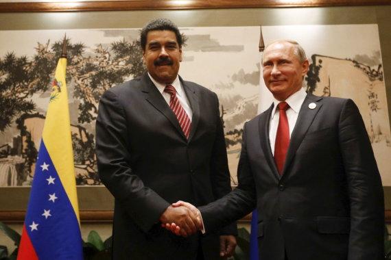 """""""Reuters""""/""""Scanpix"""" nuotr./Nicolasas Maduro ir Vladimiras Putinas"""