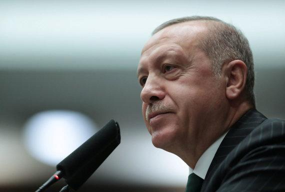 """Reuters""/""Scanpix"" nuotr./Turkijos prezidentas Recepas Tayyipas Erdoganas"