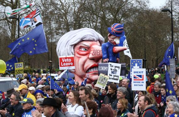 """Scanpix""/AP nuotr./Londone – masinė demonstracija prieš ""Brexit"""