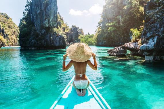 Shutterstock nuotr./Vandens pramogos Palavano saloje, Filipinai