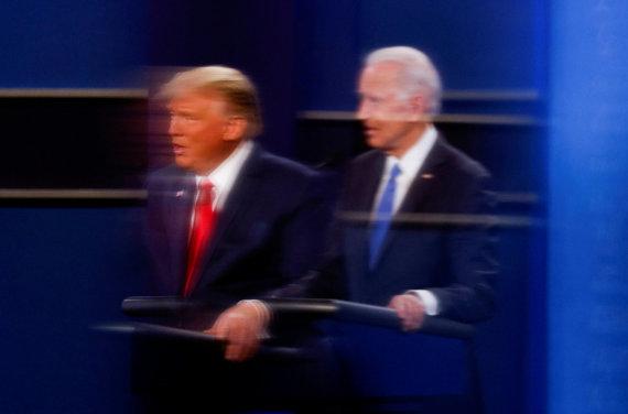 """""""Reuters""""/""""Scanpix"""" nuotr./Donaldas Trumpas ir Joe Bidenas"""