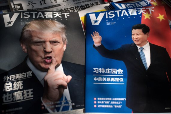 "AFP/""Scanpix"" nuotr./Donaldas Trumpas ir Xi Jinpingas"