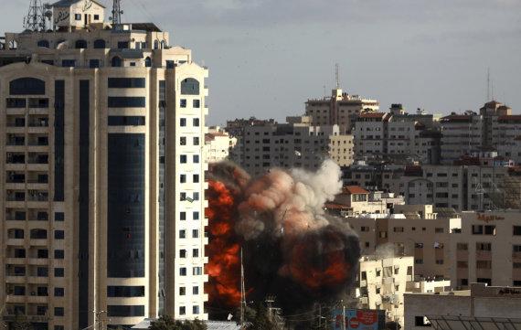 """""""Scanpix""""/AP nuotr./Gazos Ruožas po Izraelio smūgių"""