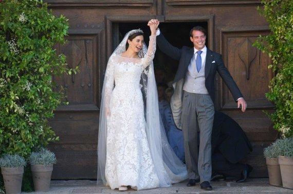 """""""Scanpix""""/""""SIPA"""" nuotr./Liuksemburgo princesė Claire ir princas Felixas (2013 m.)"""