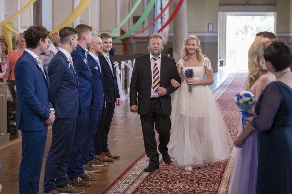 Rimanto Bikulčiaus nuotr./Mildos Andrijauskaitės ir Juliaus Bakanausko vestuvės