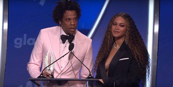 Stop kadras/Beyonce ir Jay Z per GLAAD apdovanojimus