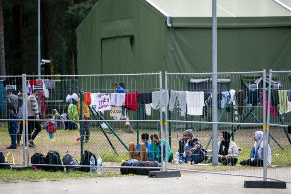 """Luko Balandžio / 15min nuotr./""""Frontex"""" pareigūnai"""
