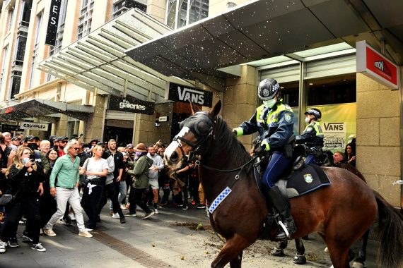 """Reuters""/""Scanpix"" nuotr./Protestas Australijoje"