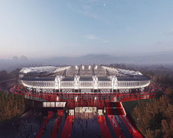 """""""Cloud architektai""""/Atnaujintos Nacionalinio stadiono vizualizacijos"""