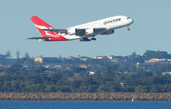"""""""Reuters""""/""""Scanpix"""" nuotr./""""Qantas Airlines"""" lėktuvas """"Airbus A380"""""""