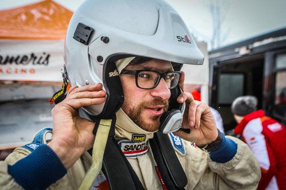 """""""Flameris racing-Eneos"""" komandos nuotr./Karolio Raišio treniruotės prieš """"Halls Winter Rally"""""""
