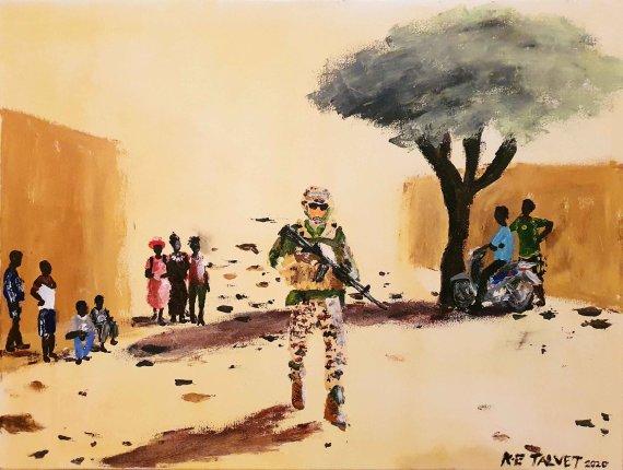 """Karl-Erik Talvet paveikslas/Karl-Erik Talvet. """"Vaikščiojantis ateivis"""""""