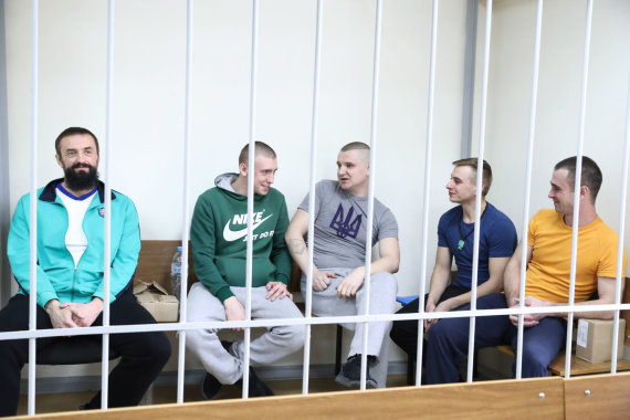 """""""Scanpix"""" nuotr./Sulaikyti ukrainiečių jūreiviai"""