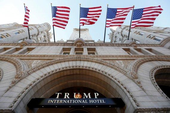 """""""Reuters""""/""""Scanpix"""" nuotr./Donaldo Trumpo viešbutis Vašingtone"""
