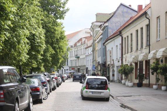 Irmanto Gelūno / 15min nuotr./Akmenimis grįsta Vokiečių gatvės dalis