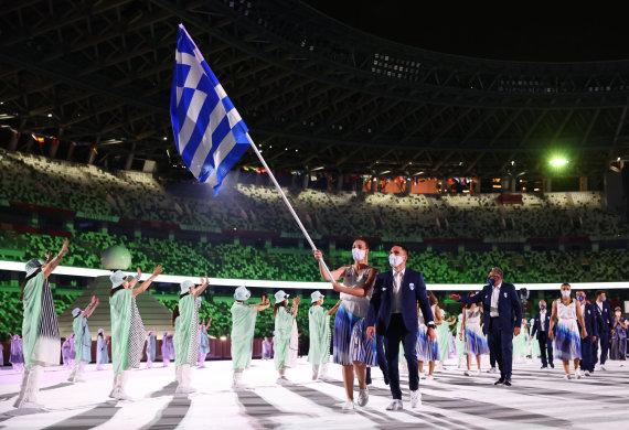 """""""Scanpix"""" nuotr./Į stadioną žengė olimpiečių rinktinės."""