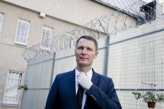Valdo Kopūsto / 15min nuotr./Teisingumo ministras Elvinas Jankevičius