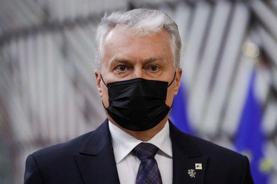 """AFP/""""Scanpix"""" nuotr./Gitanas Nausėda atvyko į Europos Vadovų Tarybą"""