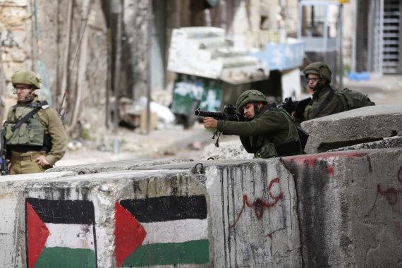 """""""Scanpix""""/""""SIPA"""" nuotr./Izraelio kariai Vakarų Krante"""