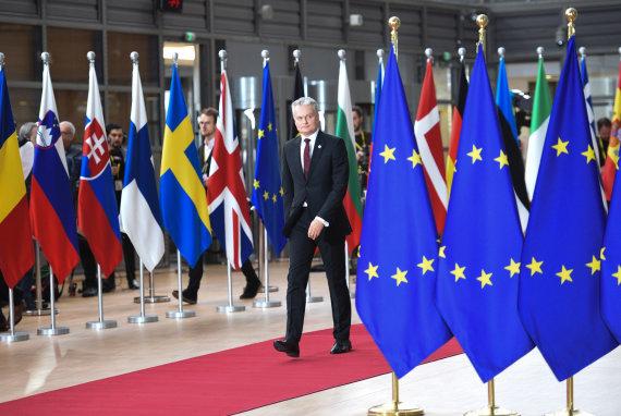 Lietuvos respublikos prezidento kanceliarijos/Roberto Dačkaus nuotr./Gitanas Nausėda Europos Vadovų Taryboje
