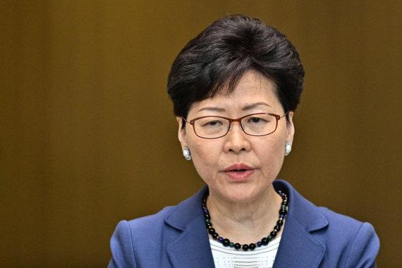"AFP/""Scanpix"" nuotr./Honkongo lyderė Carrie Lam"