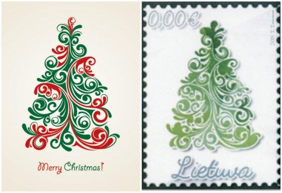 15min nuotr./Pašto ženklo konkurso nugalėtojas ir paveiksliukas iš interneto