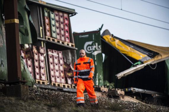 """""""Scanpix""""/AP nuotr./Traukinio avarija Danijoje"""