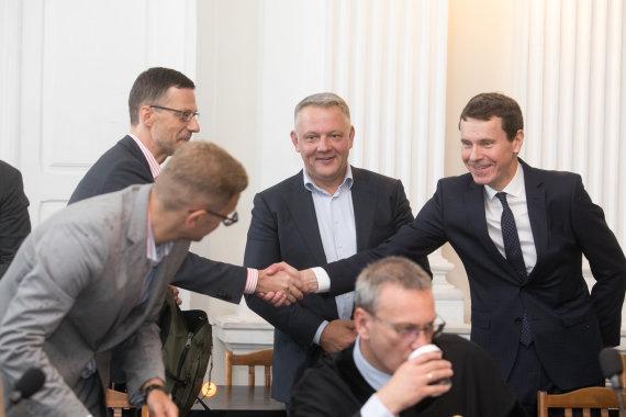 Juliaus Kalinsko / 15min nuotr./Šarūnas Gustainis, Eligijus Masiulis, Raimondas Kurlianskis