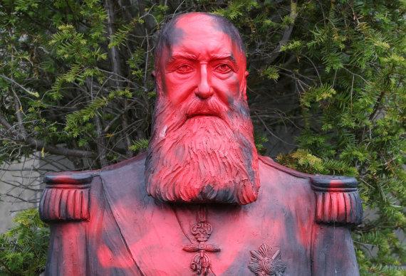 """""""Reuters""""/""""Scanpix"""" nuotr./Leopoldo II statula"""