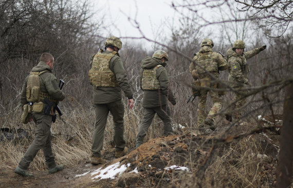 """""""Scanpix""""/AP nuotr./Ukrainos kariai Donbase"""