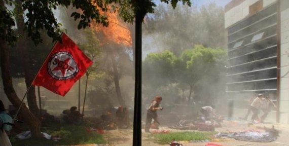 """AFP/""""Scanpix"""" nuotr./Galingas sprogimas Turkijoje"""